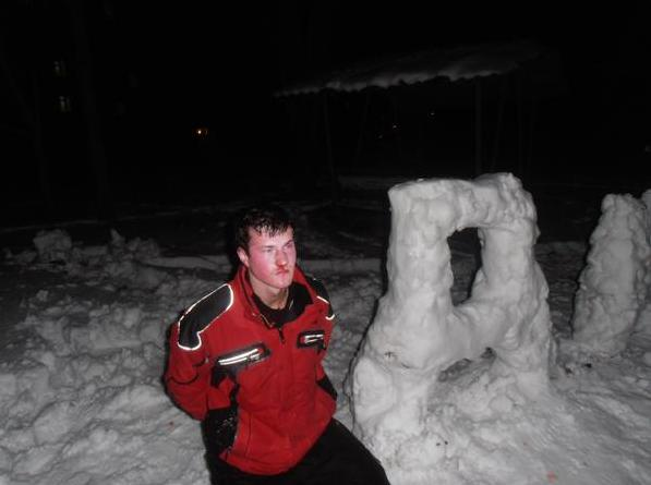 Ukraine ice sculptor