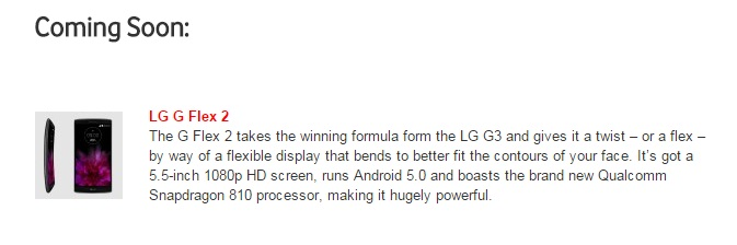 LG G Flex 2 with curved design and powerful hardware ...