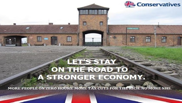 Parody of Tory election poster