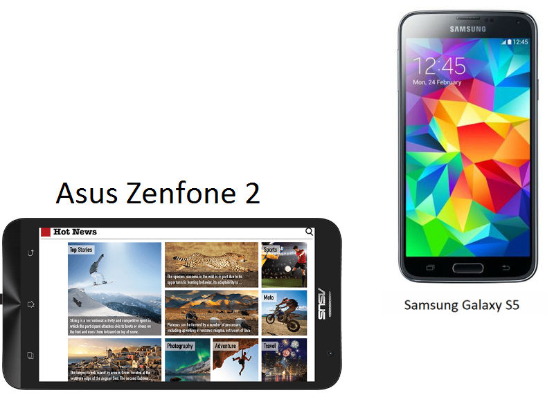Asus Zenfone 2 vs Samsung Galaxy S5: A technical comparison