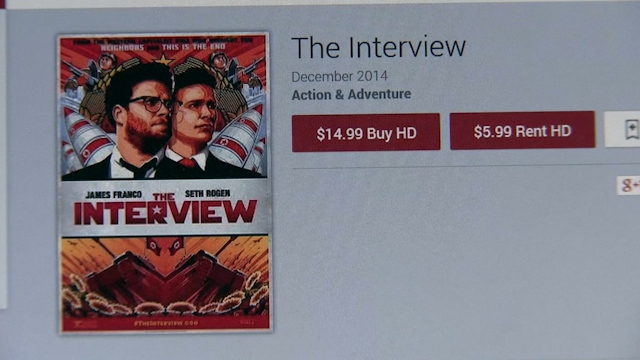 'The Interview' becomes Sony's No 1 online film, having raked in $31m