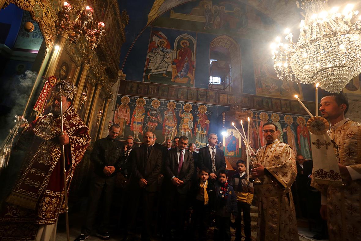 Palestine: Palestine Orthodox Christians take part in Nativity Liturgy