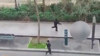 Charlie Hebdo Paris massacre: Graphic video shows masked gunmen execute wounded police officer