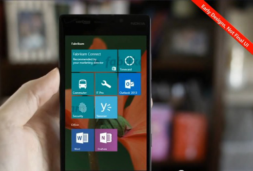 Microsoft Windows Phone 10 for phones termed Windows Mobile 10 apparently surfaces in new screenshot