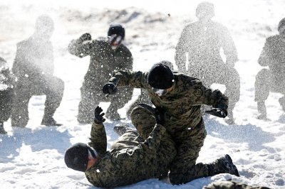 South Korea troops winter exercise