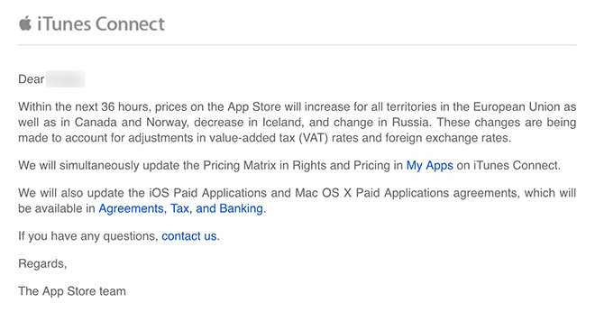 Apple App Store email