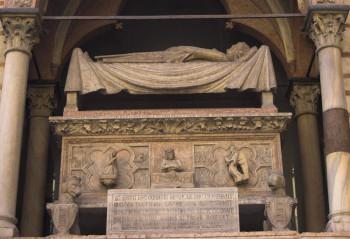 The tomb of Cangrande Della Scala at the Church of Santa Maria Antica in Verona