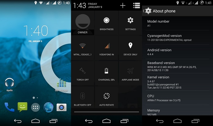 How to install official CyanogenMod 11 ROM on Android One