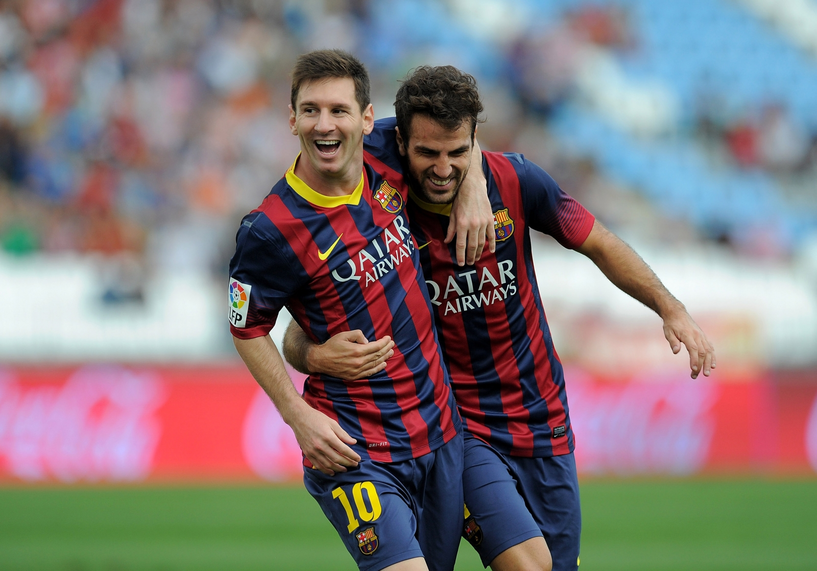 Messi and Fabregas