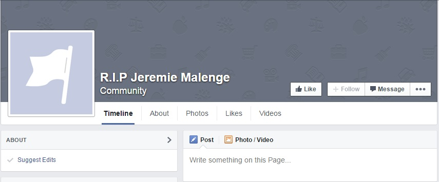 Jeremie Malenge Facebook page