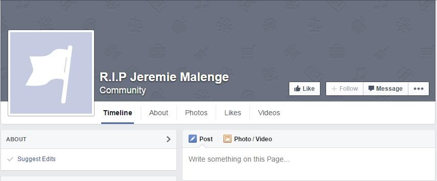 Jeremie Malenge Facebook page