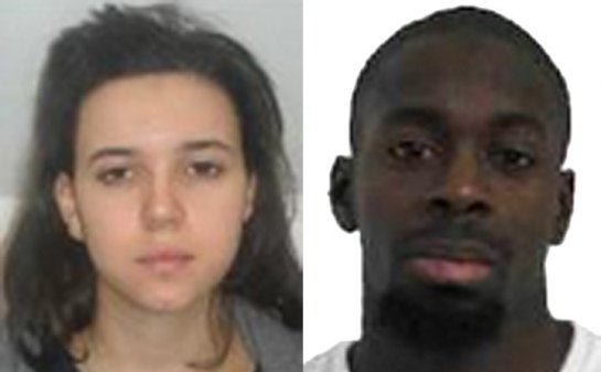 Muslim 'Bonnie and Clyde' Amedy Coulibaly and Hayat Boumeddiene wanted by police