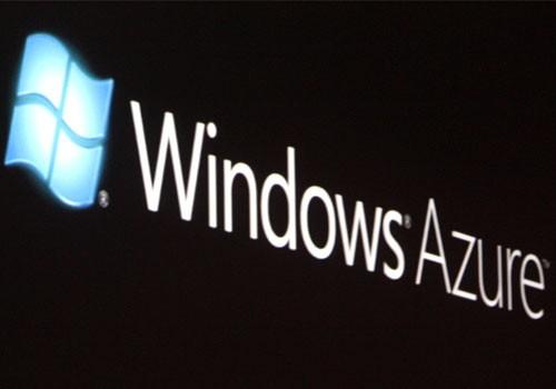 The logo of Microsoft Windows Azure cloud-based services platform