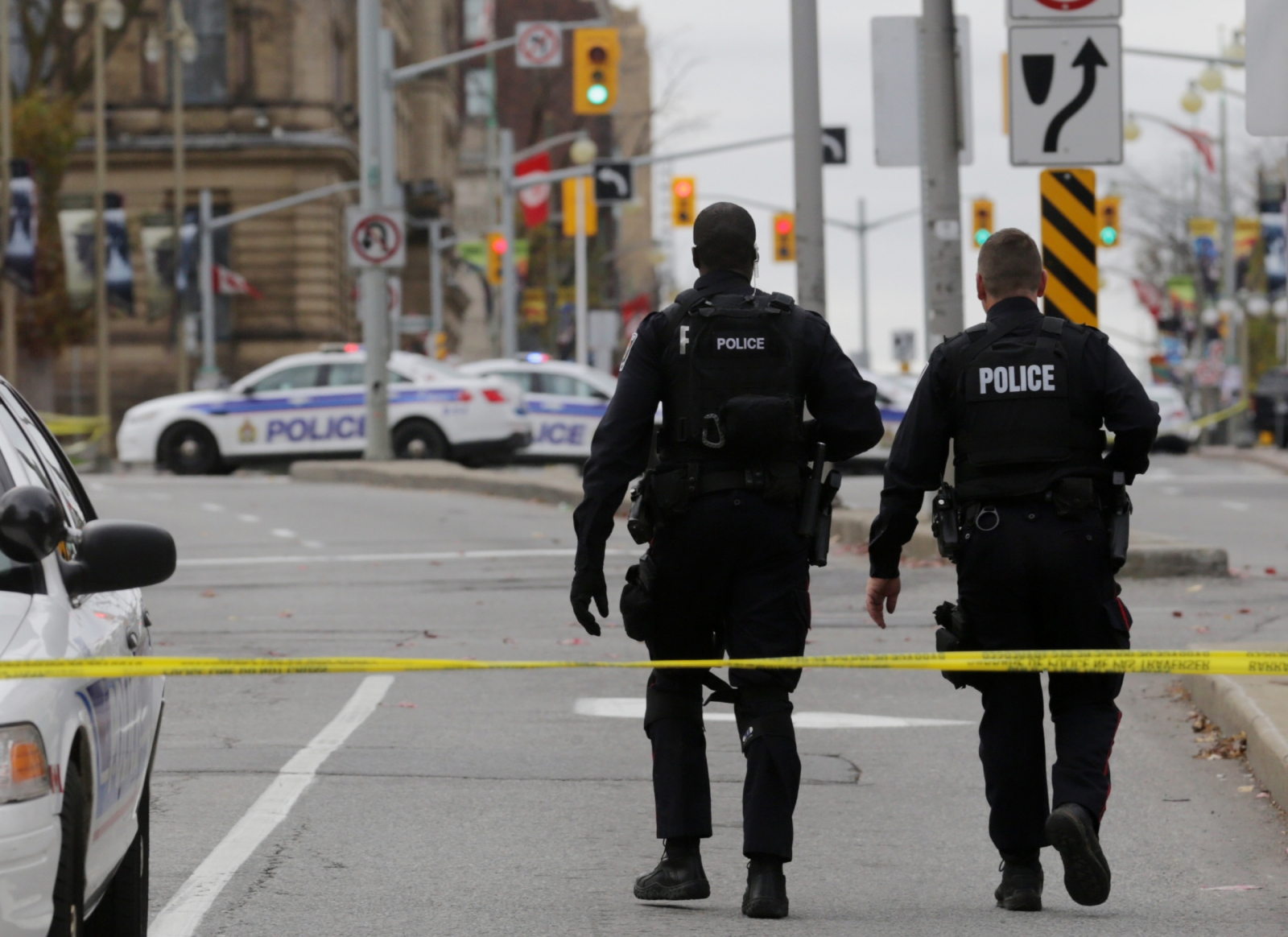 Canadian police in Ottawa following October's attack in Parliament Hill. (Getty)