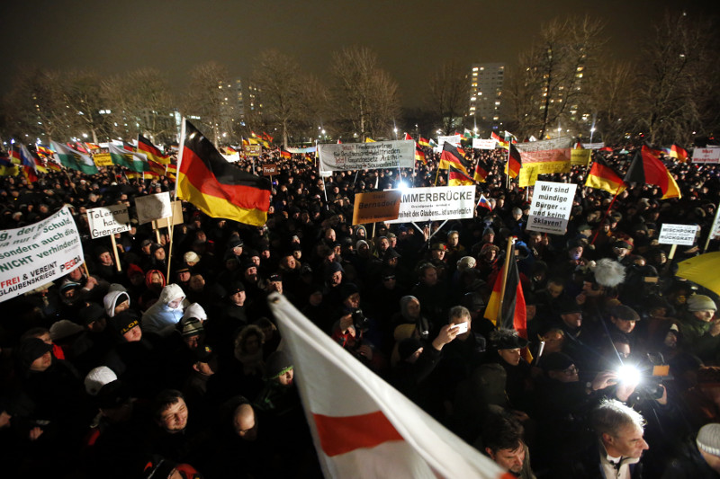 Pegida rally Germany 5 January 2015