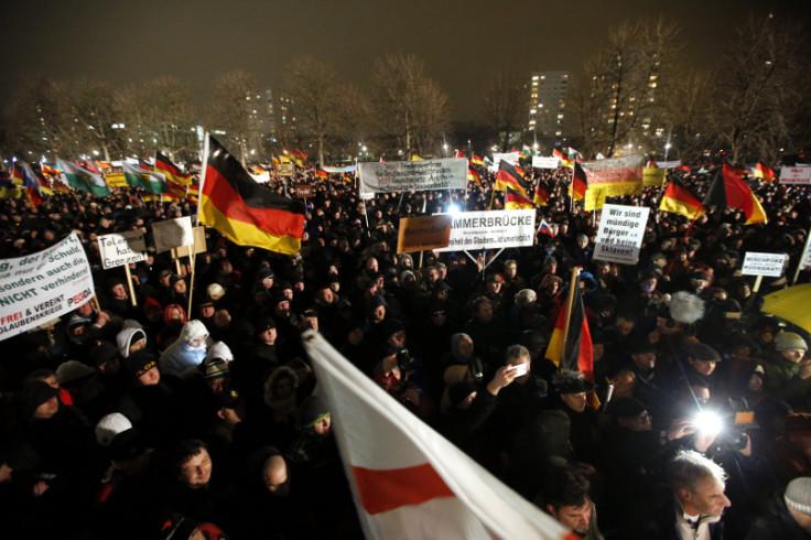 Pegida rally Germany 5 January 2015