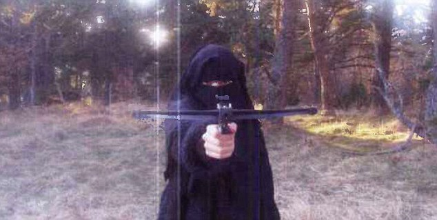 Hayat Boumeddiene, allegedly pictured in a French forest.