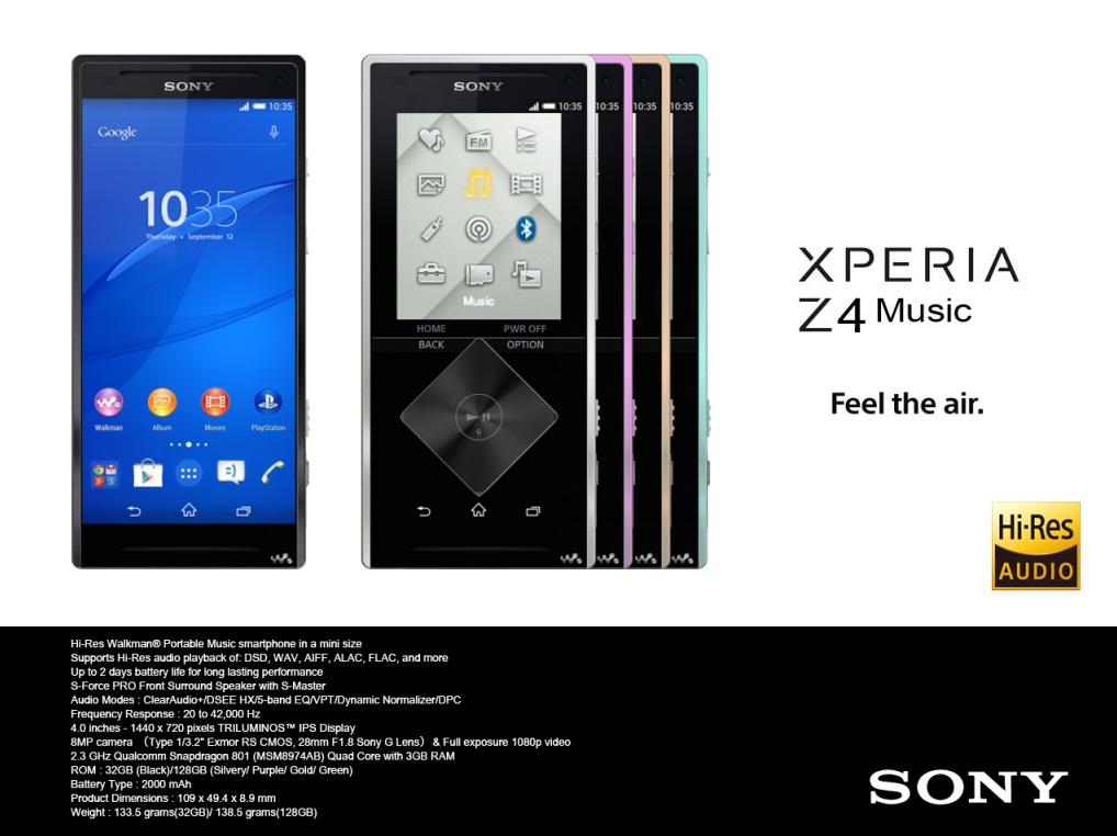 Sony Xperia Z4 Music