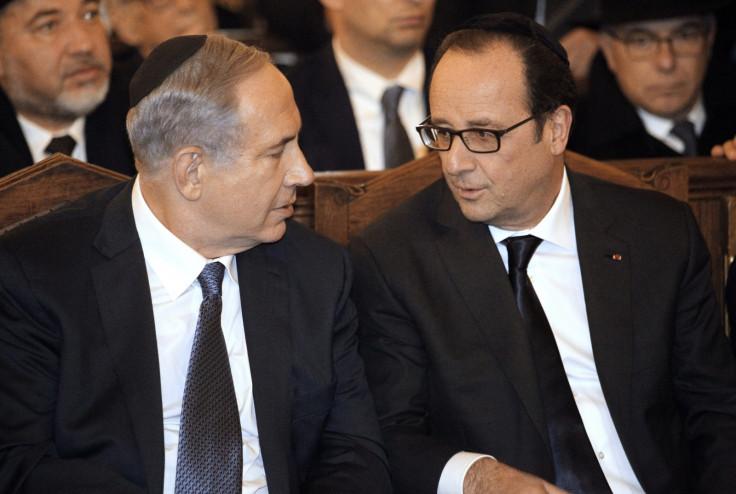Netanyahu Hollande