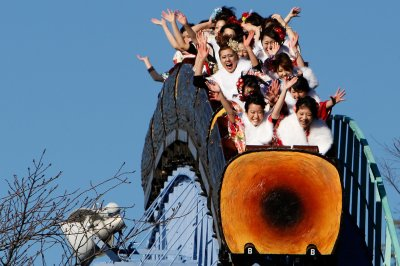 Motion sickness can be caused by roller coasters