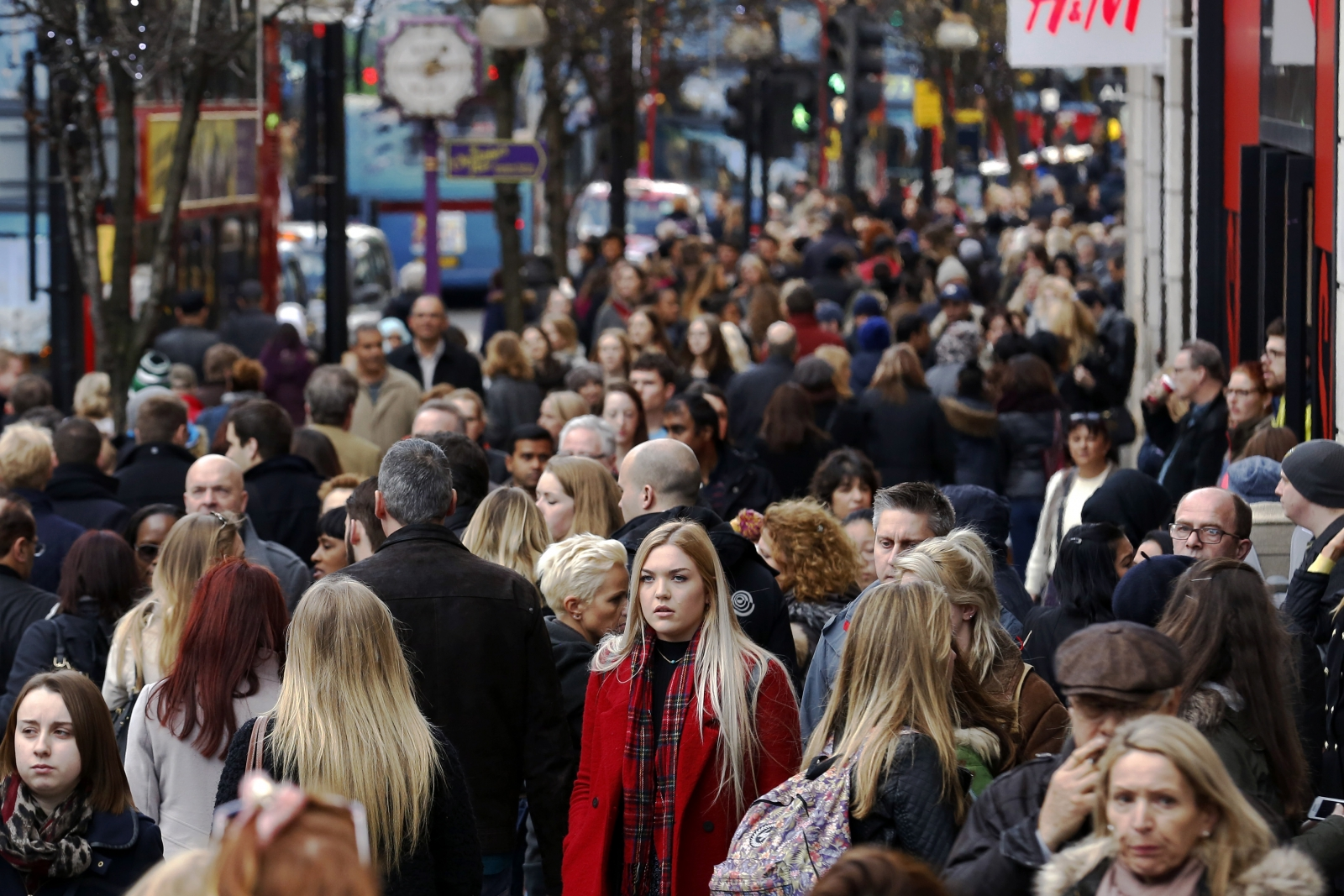 Shoppers in the UK