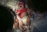 This baby is not one of the newborns which were smuggled