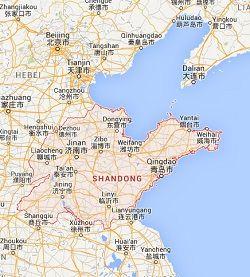 map of shandong