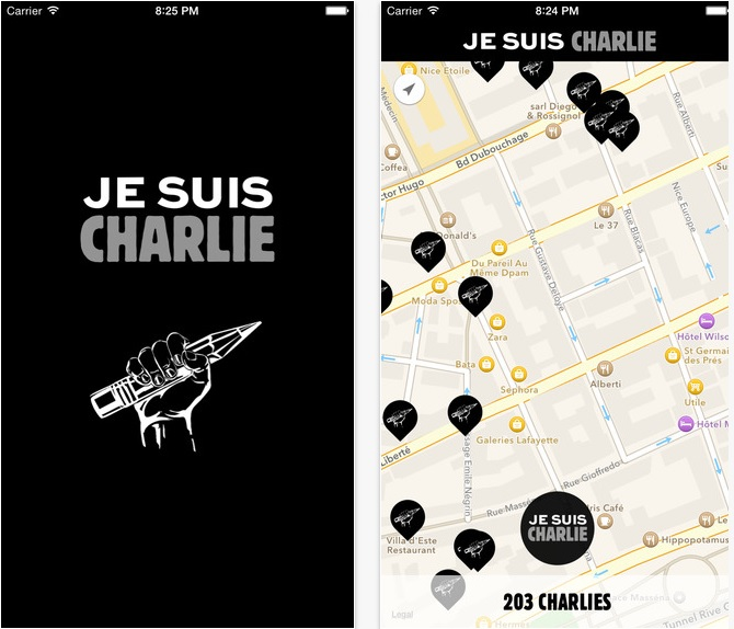 Je suis Charlie iPhone app