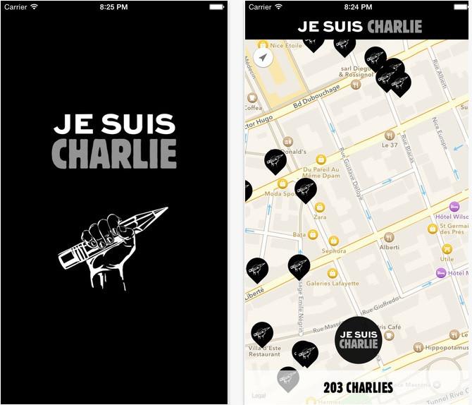 Je suis Charlie iPhone app