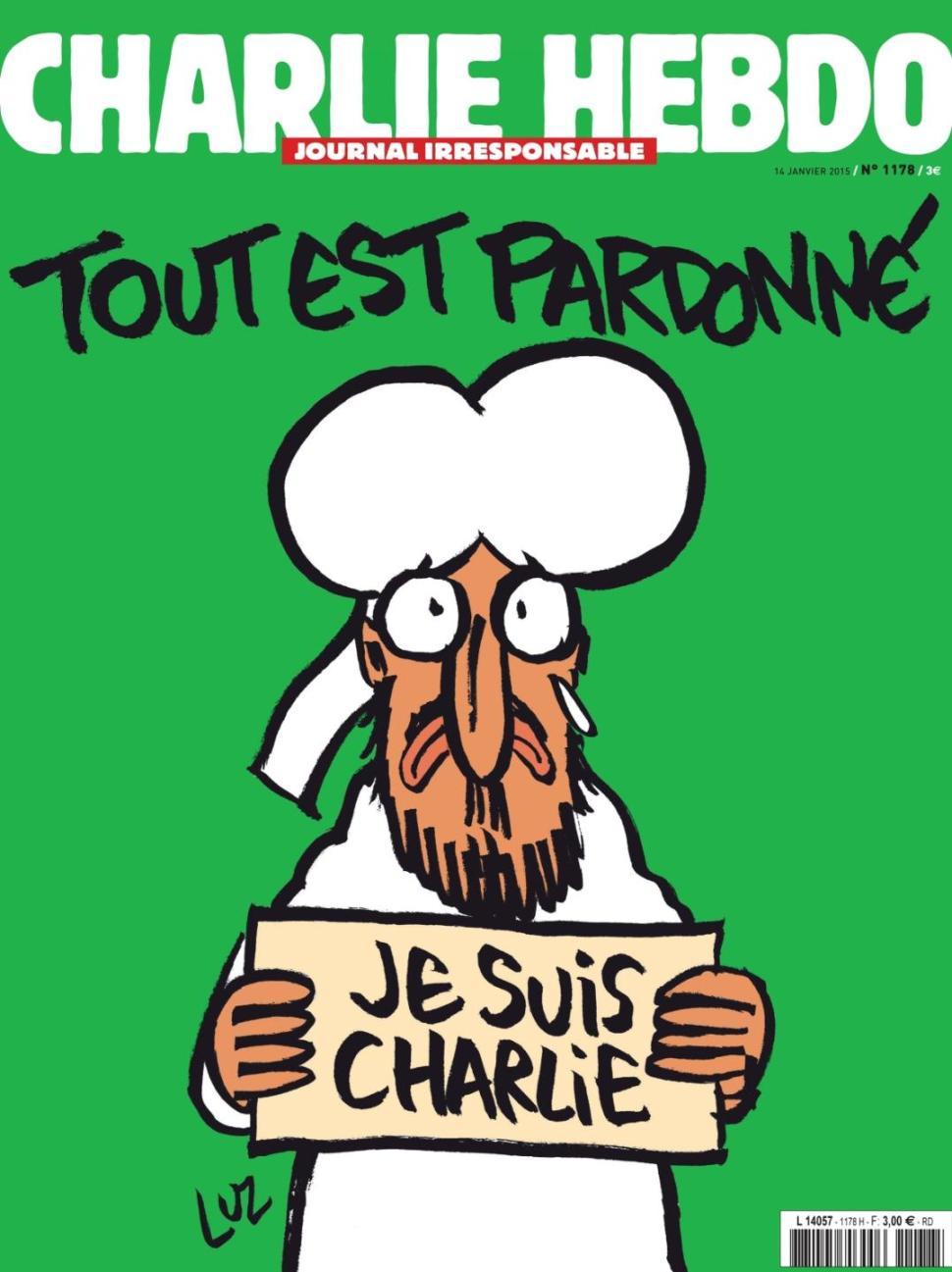 charlie hebdo cover mohammed