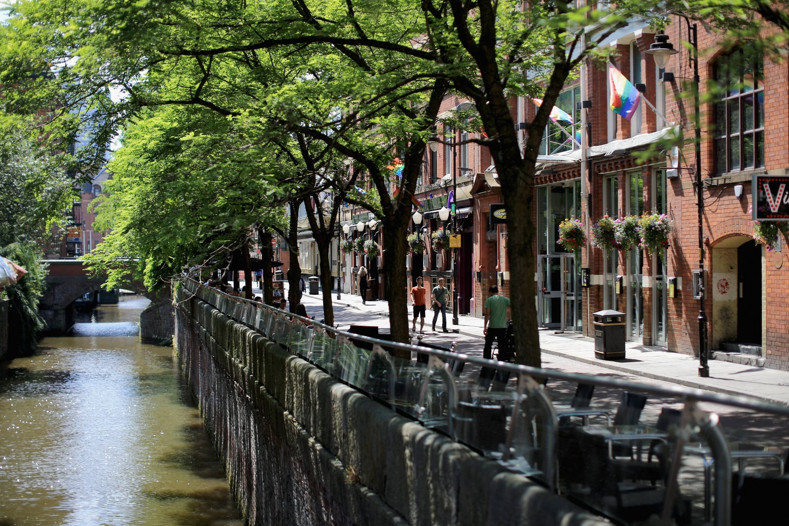 Canal Street in Manchester, where fears have been raised of an active serial killer by a psychology professor