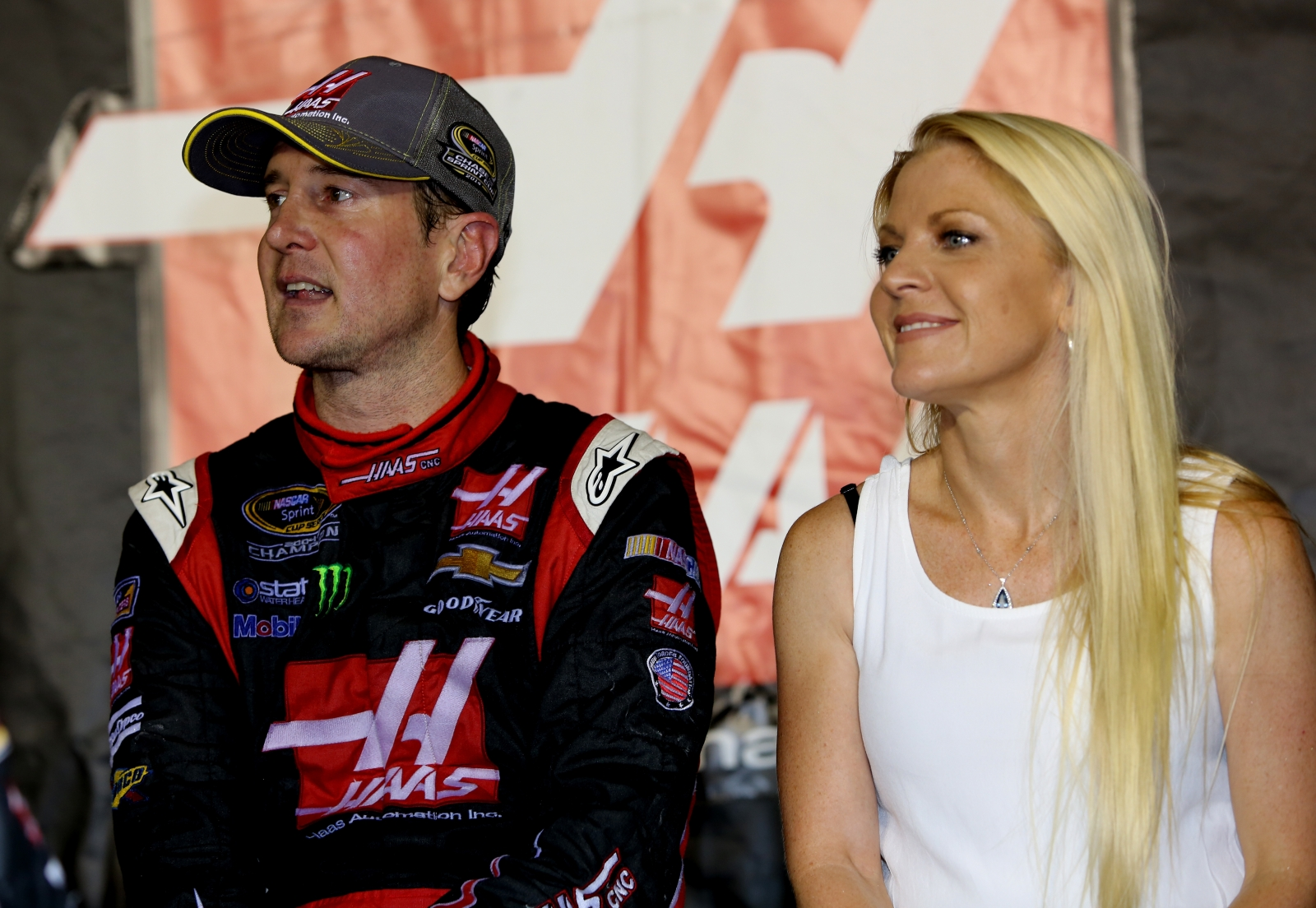 Kurt Busch and Patricia Driscoll during happier times, last year