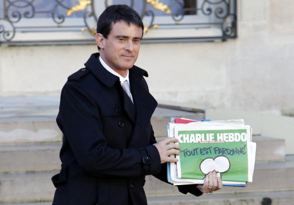 French Prime Minister Manuel Valls Charlie Hebdo