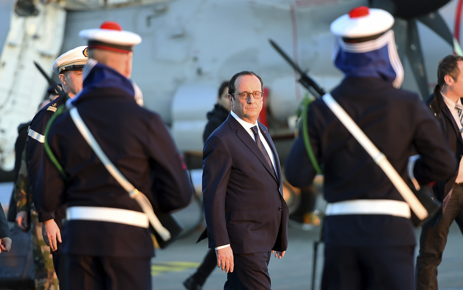 Francois Hollande Charlie Hebdo Charles de Gaulle aircraft carrier ISis