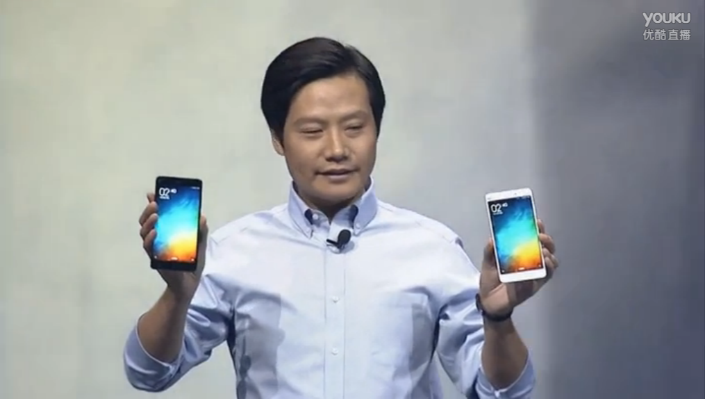 CEO Lei Jun Shows off Xiaomi Mi Note