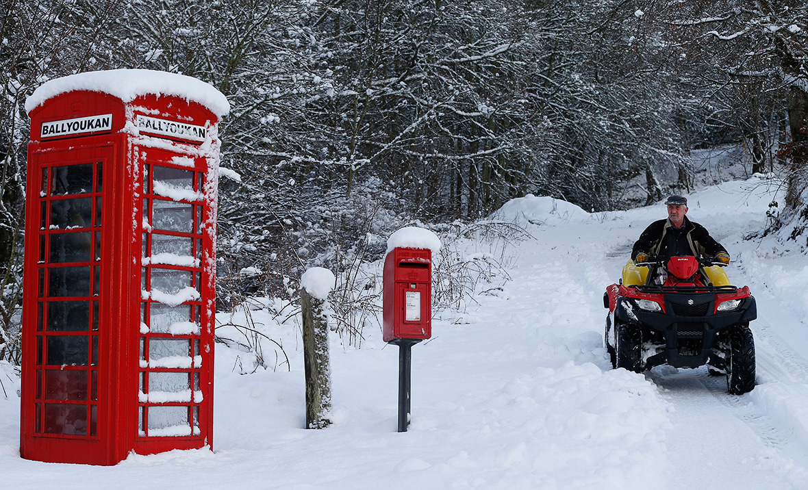 Uk Winter Weather Beautiful Photos Of Snow In Northern