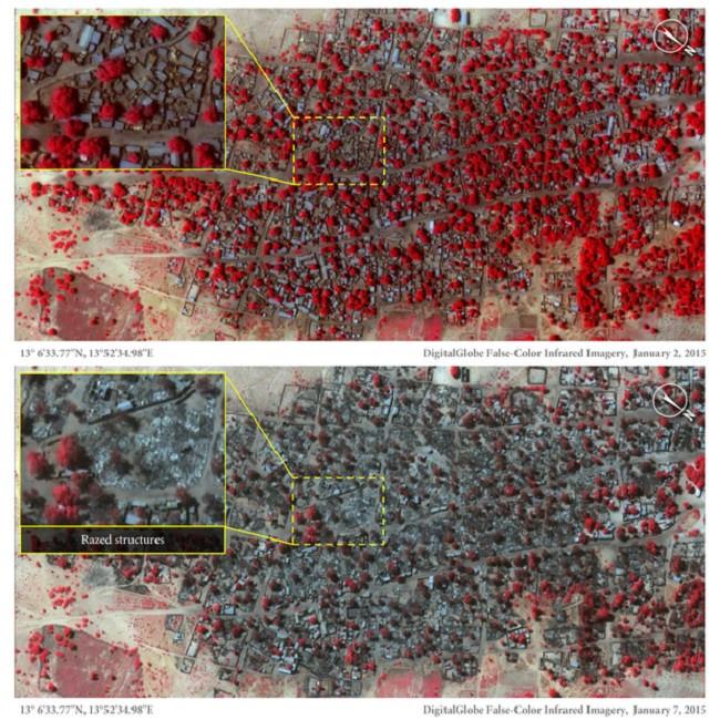 Satellite images of Doro Baga