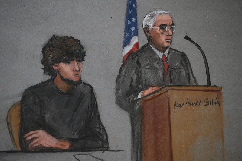 Accused Boston Marathon bomber Dzhokhar Tsarnaev