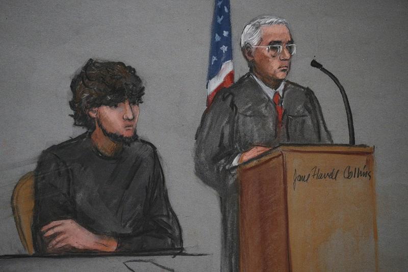 Accused Boston Marathon bomber Dzhokhar Tsarnaev