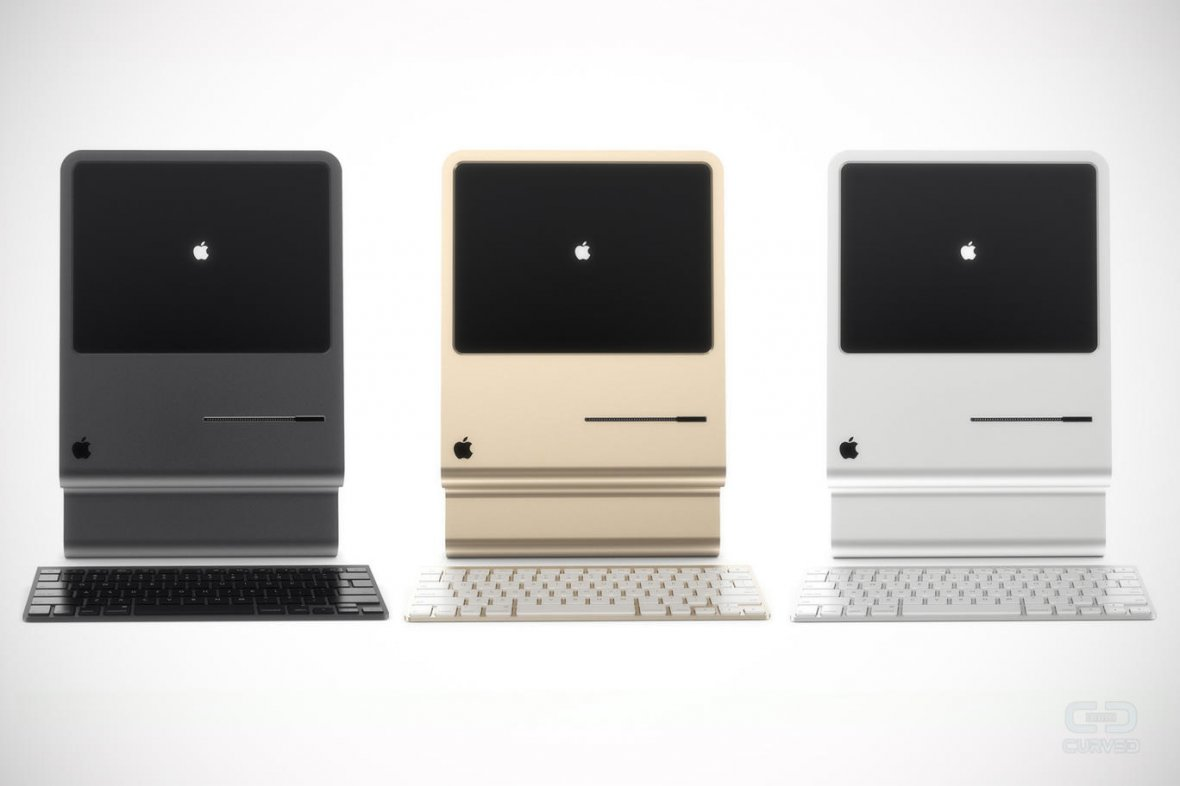 Just like an iPhone, the Mac 2015 concept comes in three colours