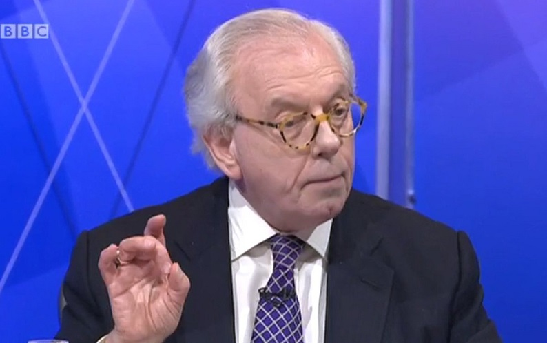 Historian David Starkey criticised by web users over latest Question Time appearance