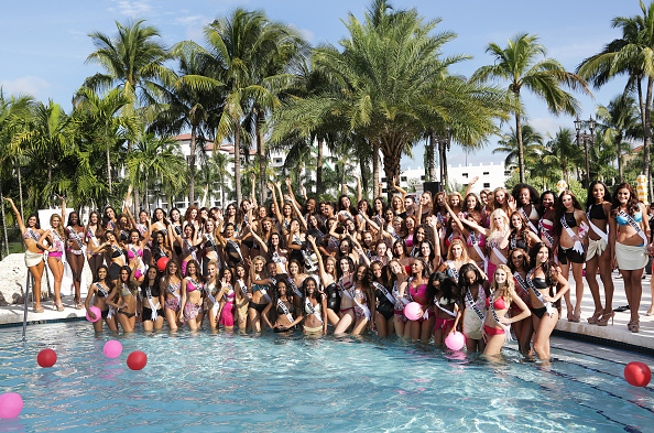Miss universe 2014 contestants show off toned bodies in for Florida pool show 2015