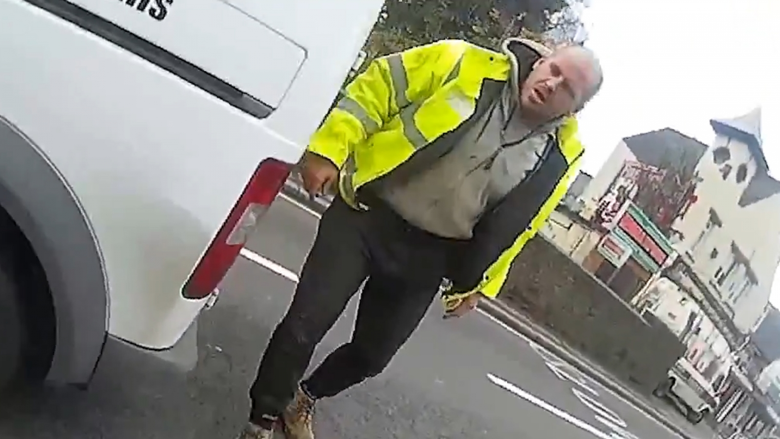 Shocking video shows cyclist knocked over and attacked by van driver