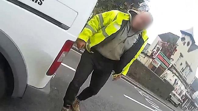 Van driver assaults cyclist