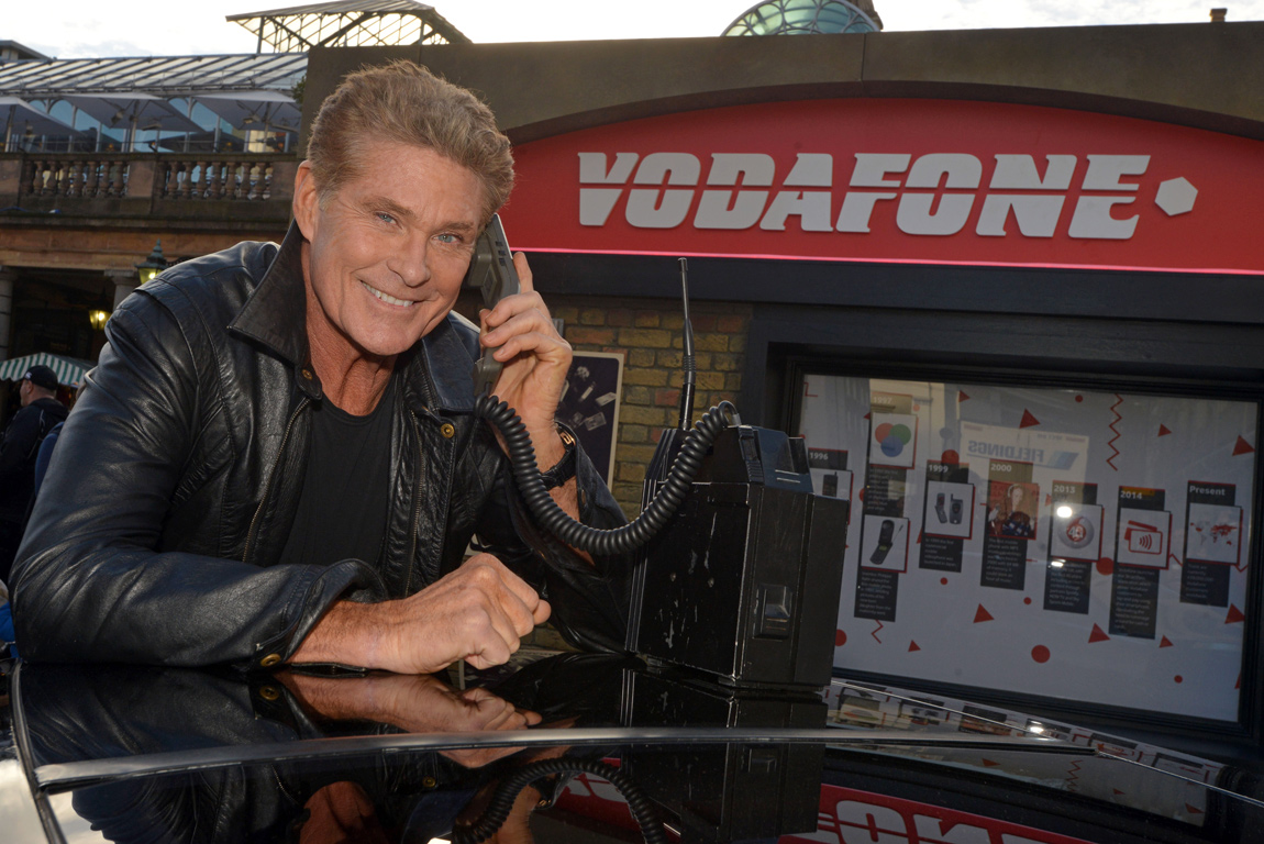 The Hoff says he used to use one of these phones when he was filming Knight Rider