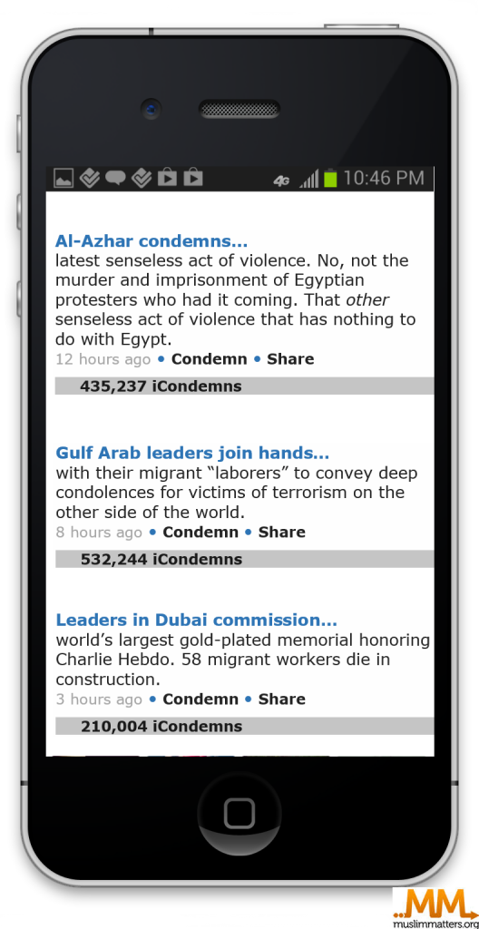 iCondemn: An app to curb Islamophobia and help Muslims to denounce terror attacks
