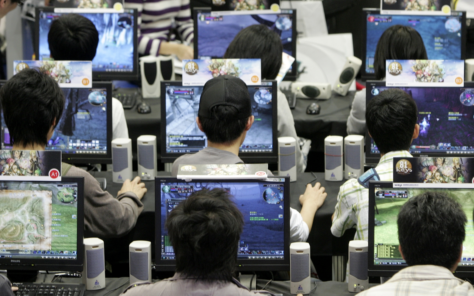 Gamers at a computer games fair in Taipei, Taiwan. (Reuters)
