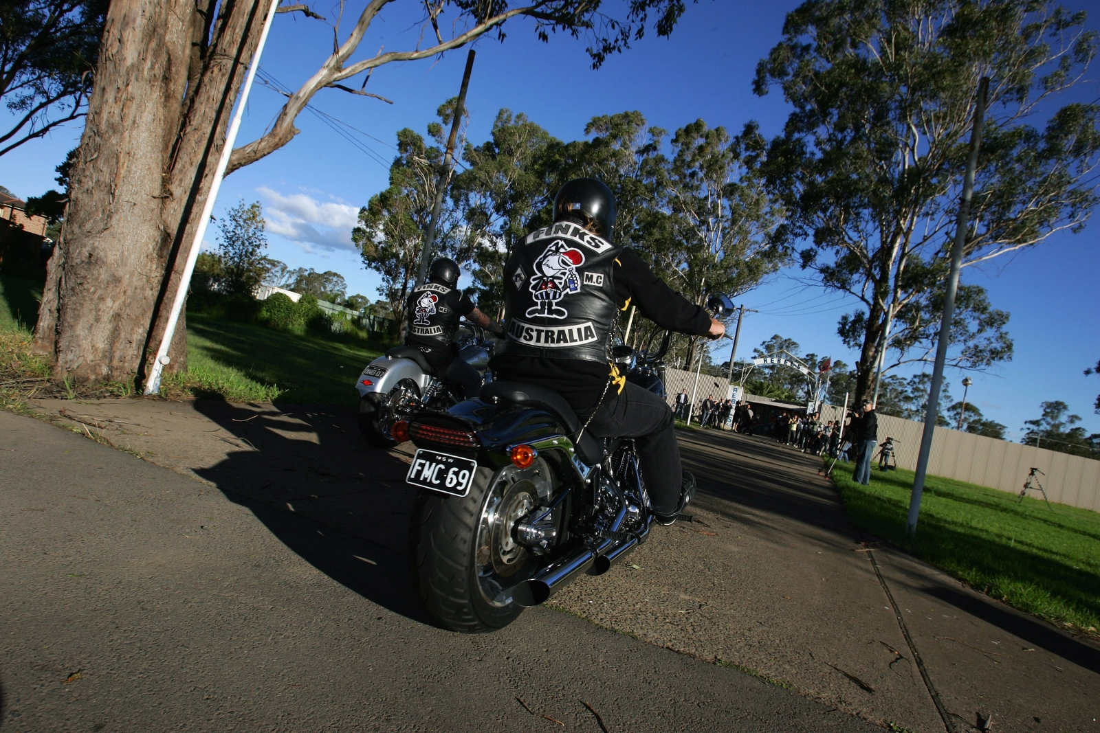 Members of the Finks Australian bikie gang (Getty)