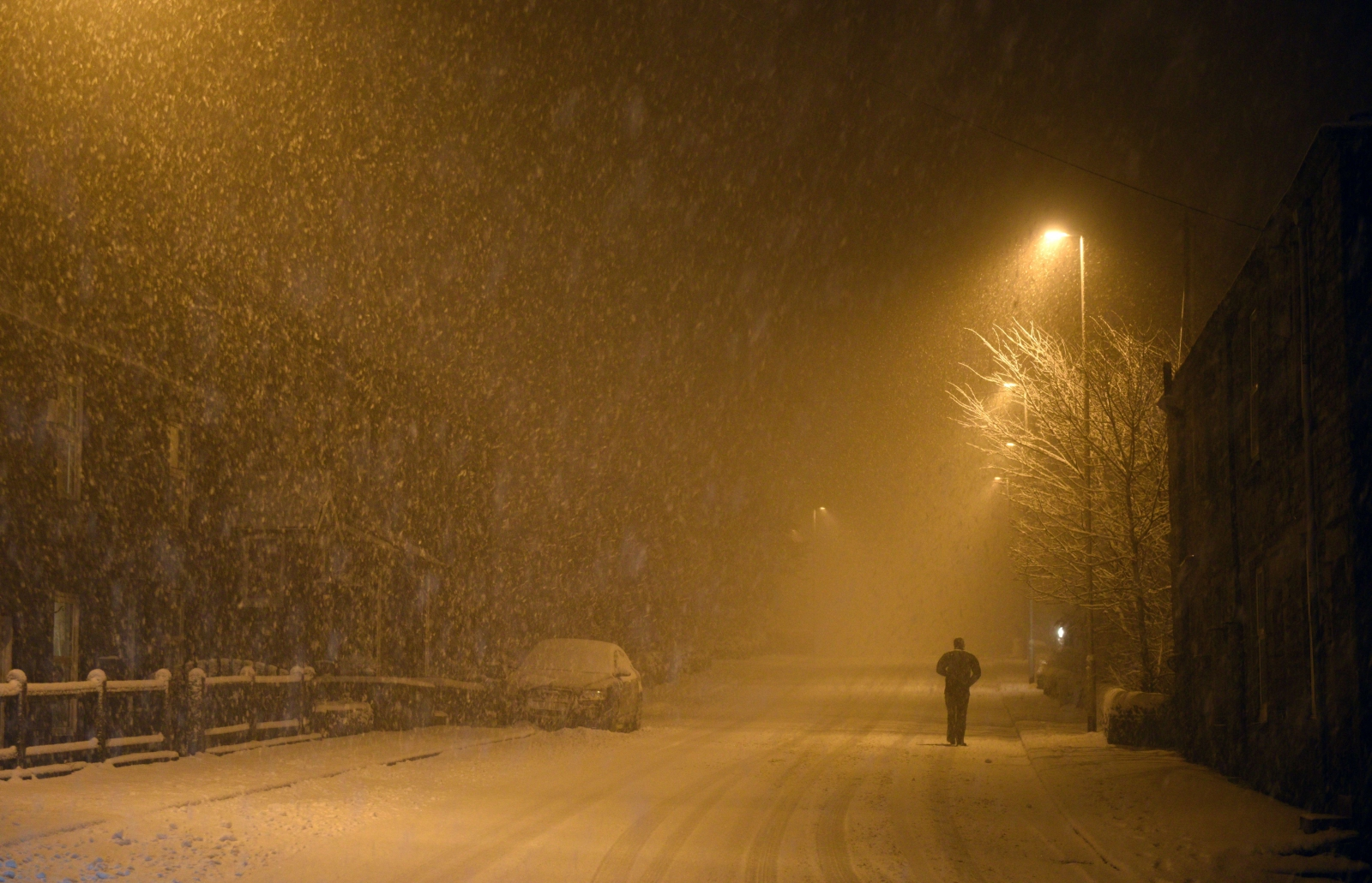 Snowfall in Oldham, Greater Manchester (Getty)