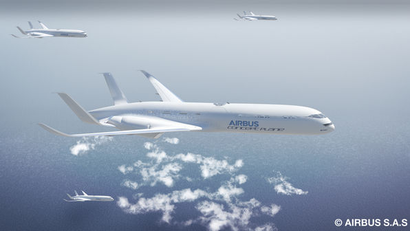 High-frequency routes would allow aircraft to benefit from flying in formation like birds during cruise